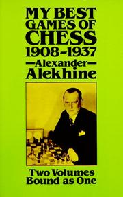 Cover of: My best games of chess, 1908-1937