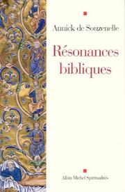 Cover of: Résonances bibliques