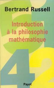 Cover of: Introduction à la philosophie mathématique