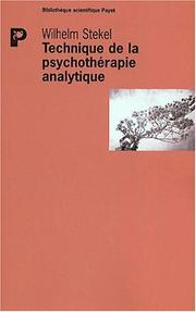 Cover of: Technique de la psychothérapie analytique