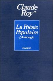 Cover of: La Poésie populaire. Anthologie