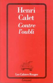 Cover of: Contre l'oubli