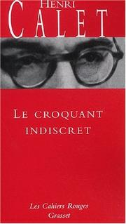 Cover of: Le Croquant indiscret