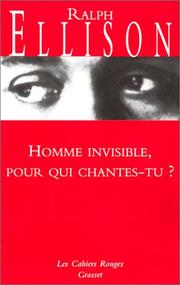 Cover of: Homme invisible pour qui chantes-tu ?