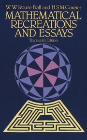 Mathematical recreations & essays by W. W. Rouse Ball