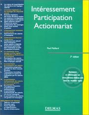 Intéressement, participation, actionnariat by Paul Maillard
