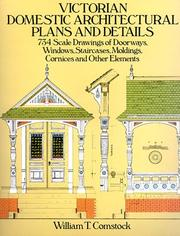 Cover of: Victorian Domestic Architectural Plans and Details | William T. Comstock