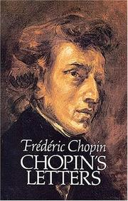 Cover of: Chopin's letters