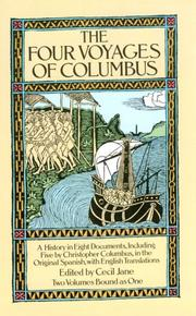 Cover of: Select documents illustrating the four voyages of Columbus: Including those contained in R.H. Major's Select letters of Christopher Columbus.