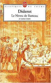 Cover of: Le Neveu De Rameau Satires Contes Et Entretiens