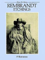 Cover of: Rembrandt etchings