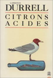 Cover of: Citrons acides
