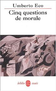 Cover of: Cinq questions de morale