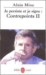 Cover of: Contrepoints, tome 2: Je persiste et signe