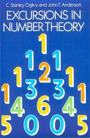 Cover of: Excursions in number theory