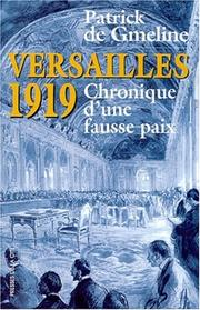 Cover of: Versailles 1919