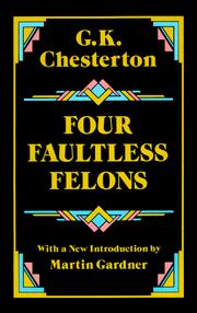 Cover of: Four faultless felons