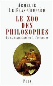 Cover of: Le Zoo des philosophes
