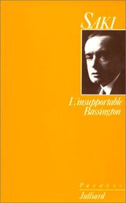 Cover of: L'insupportable Bassington