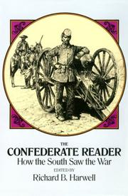 Cover of: The Confederate reader