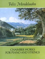 Cover of: Chamber Works for Piano and Strings