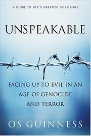 Cover of: Unspeakable