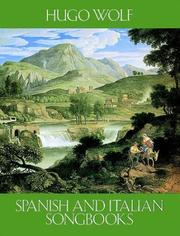 Cover of: Spanish and Italian Songbooks