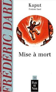 Cover of: Mise à mort