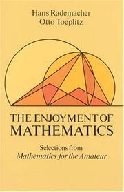 Cover of: The Enjoyment of Mathematics