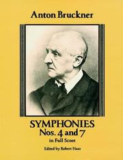 Cover of: Symphonies Nos. 4 and 7 in Full Score