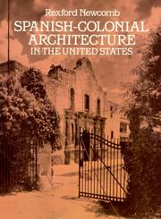 Cover of: Spanish-colonial architecture in the United States