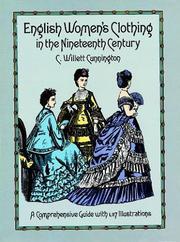 Cover of: English women's clothing in the nineteenth century