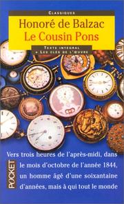 Cover of: Le cousin Pons