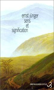 Cover of: Sens et signification