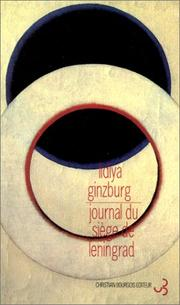 Cover of: Journal du siège de Leningrad