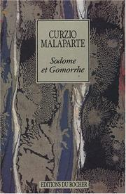 Cover of: Sodome et Gomorrhe