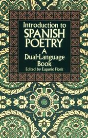 Cover of: Introduction to Spanish poetry | edited by Eugenio Florit.