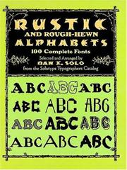 Cover of: Rustic and Rough-Hewn Alphabets