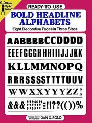 Cover of: Ready-to-Use Bold Headline Alphabets