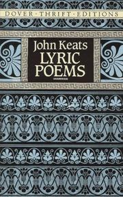 Cover of: Lyric poems