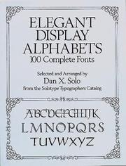 Cover of: Elegant display alphabets