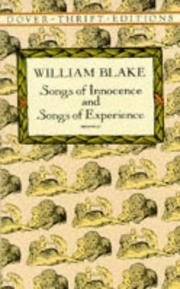 Cover of: Songs of innocence; and Songs of experience