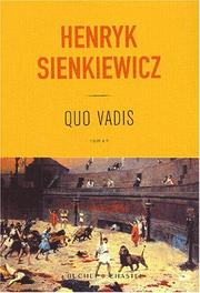 Cover of: Quo vadis by Henryk Sienkiewicz