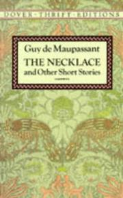 Cover of: The necklace and other short stories