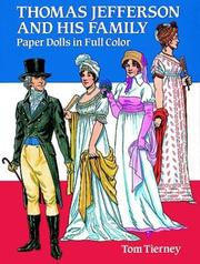 Cover of: Thomas Jefferson and His Family Paper Dolls in Full Color