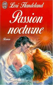 Cover of: Passion nocturne