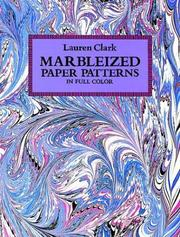 Cover of: Marbleized paper patterns in full color | Lauren Clark