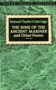 Cover of: The rime of the ancient mariner and other poems