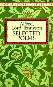 Cover of: Selected poems | Alfred, Lord Tennyson