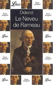 Le neveu de Rameau by Denis Diderot
